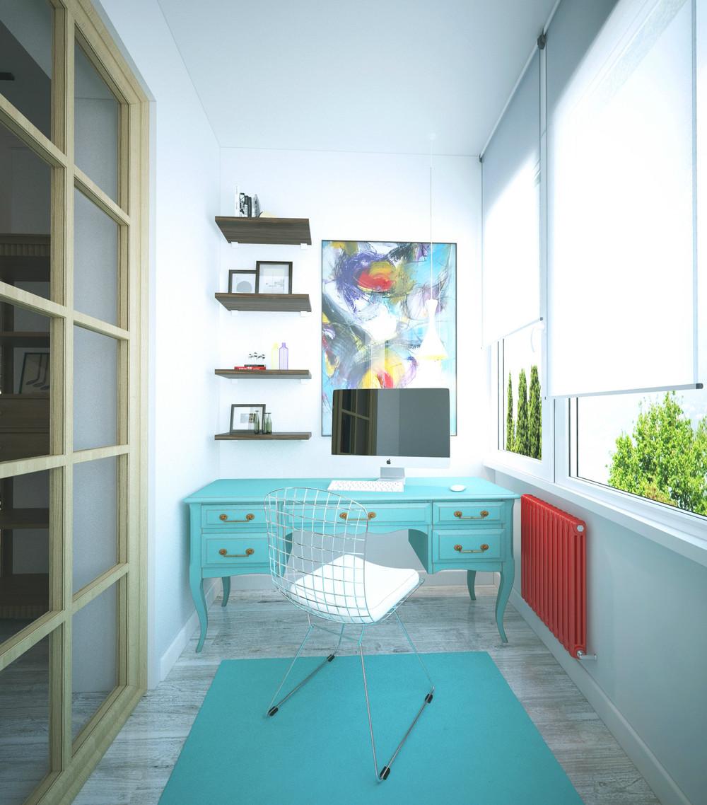 Дизайн однокомнатной квартиры в стиле эклектика. обсуждение .