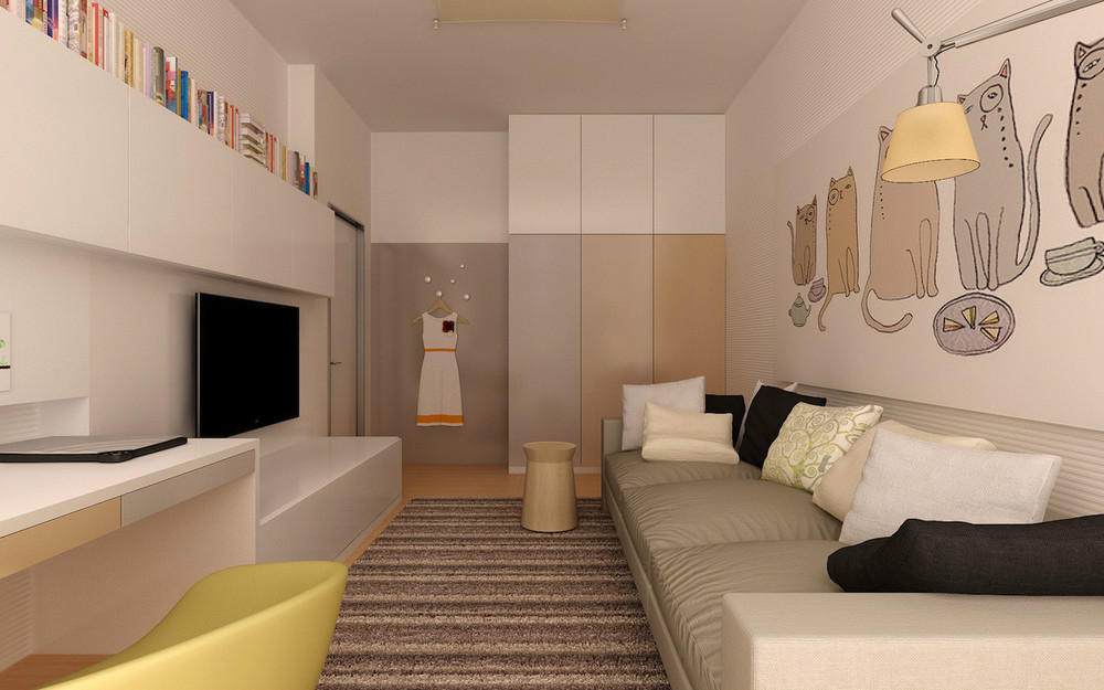 4 на 5 комната дизайн