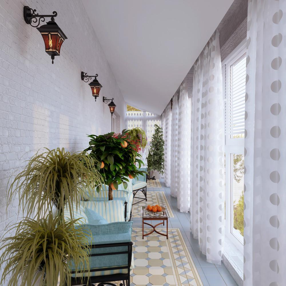 Фото дизайна узкого балкона.