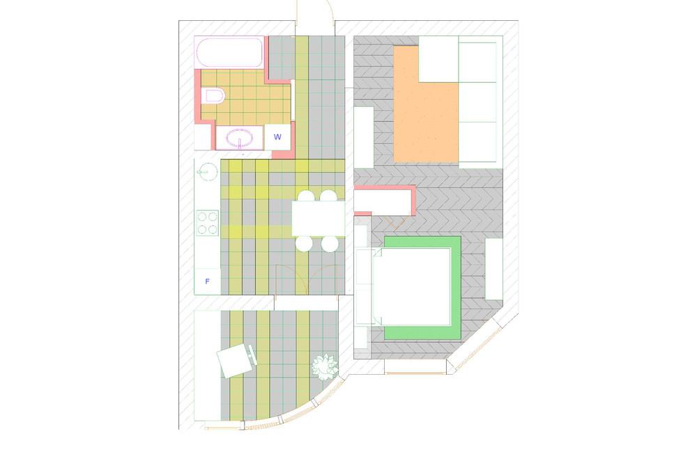 """Дизайн 2-х комнатной квартиры копэ-м-парус """" современный диз."""