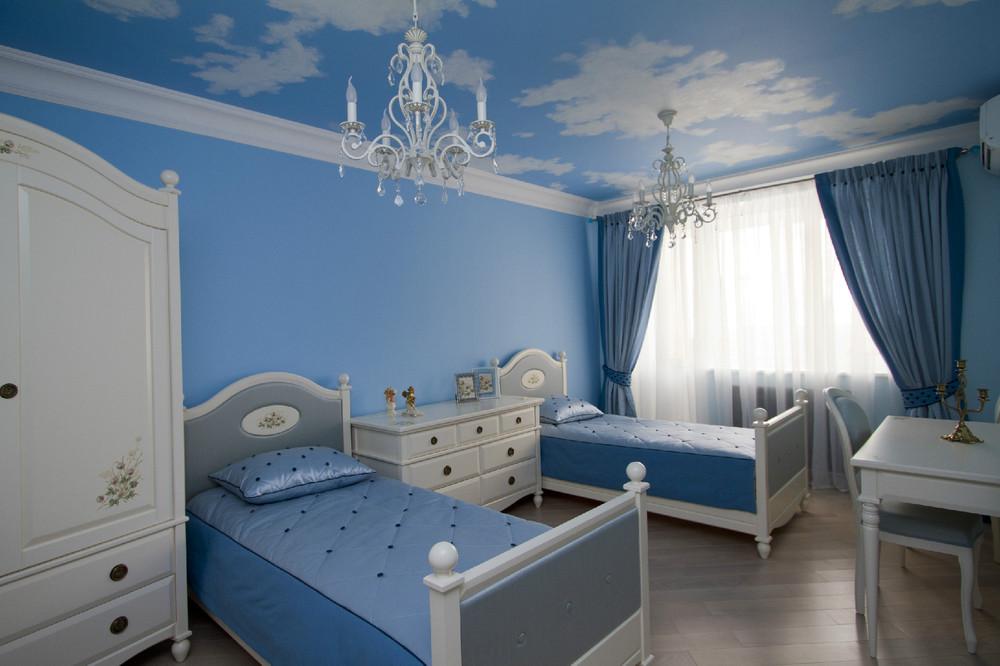 Комната в голубом цвете фото