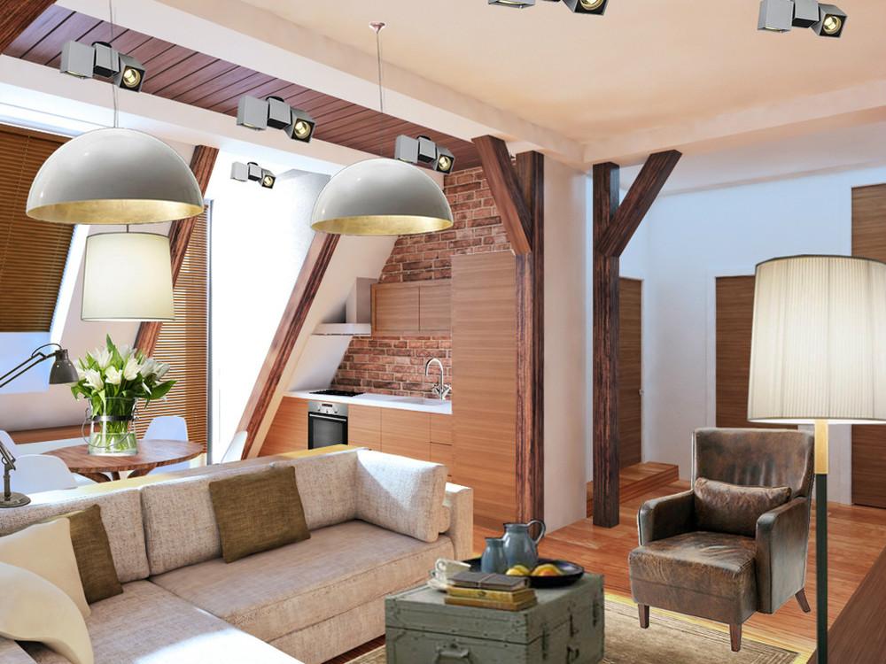 деление однокомнатной квартиры на зоны фото