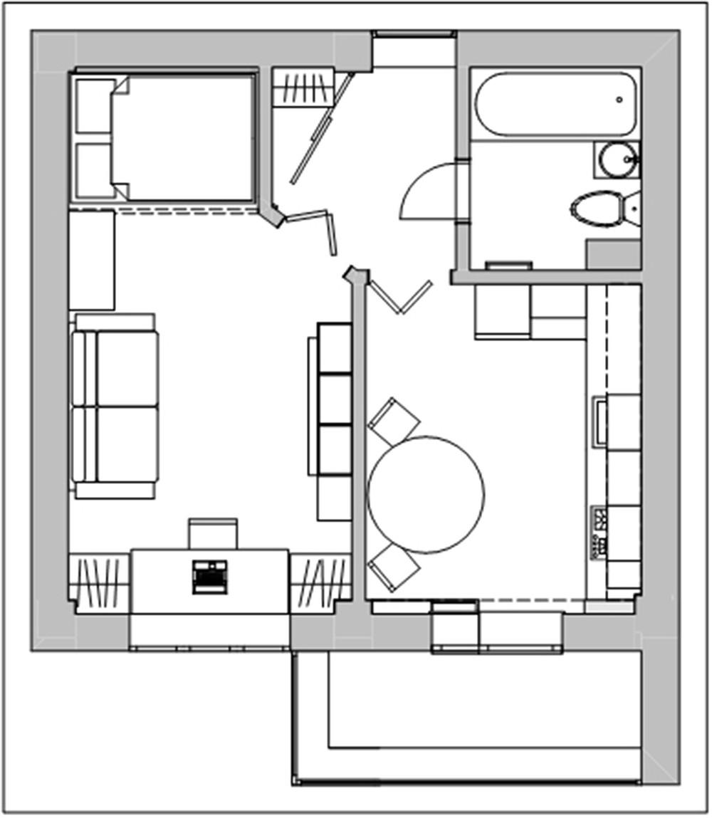 Хрущевка 2 комнатная план схема фото 458