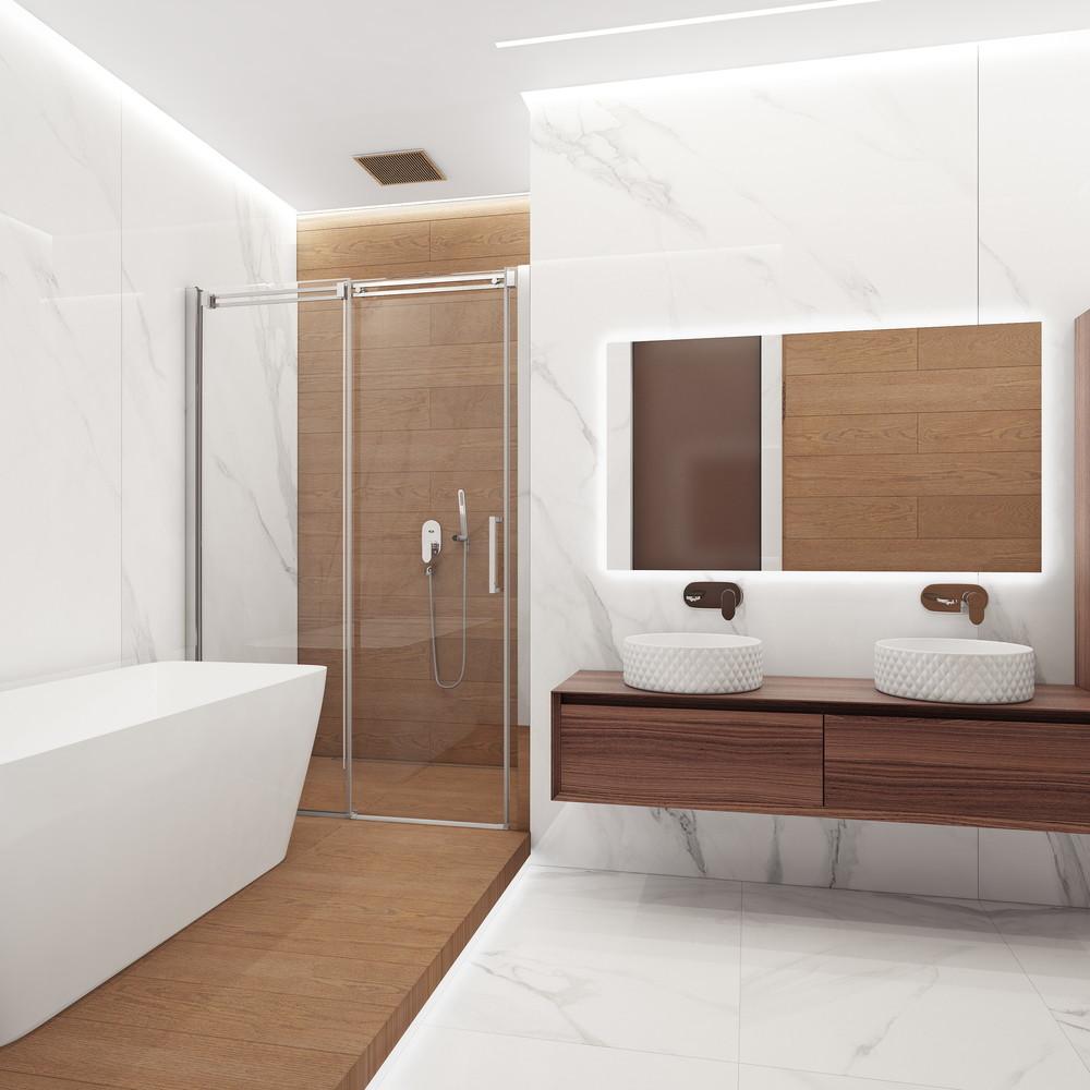 Эко дизайн ванной комнаты полоски в ванной комнате