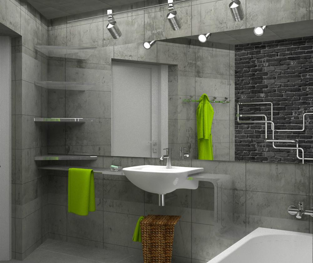 фото ванной комнаты в стиле лофт фото