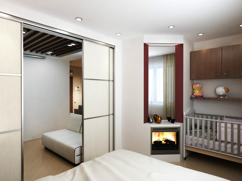Дизайн проект комнаты с нишей