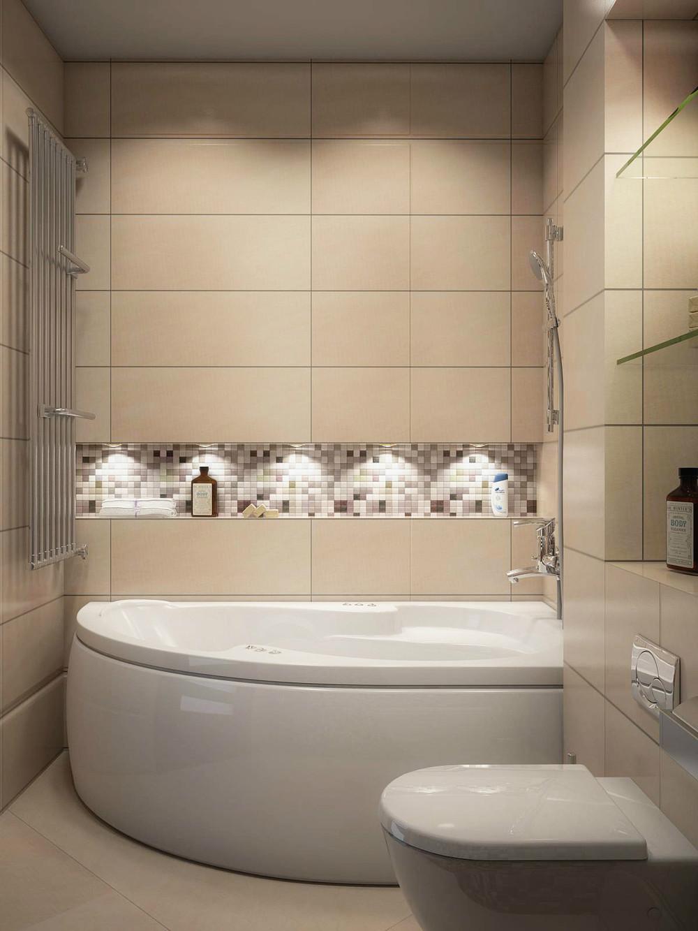 Бежевые ванные комнаты фото - дизайн