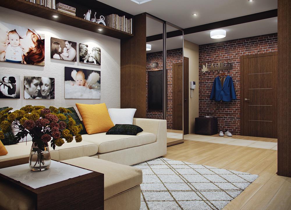 Дизайн гостиной 45 м кв м