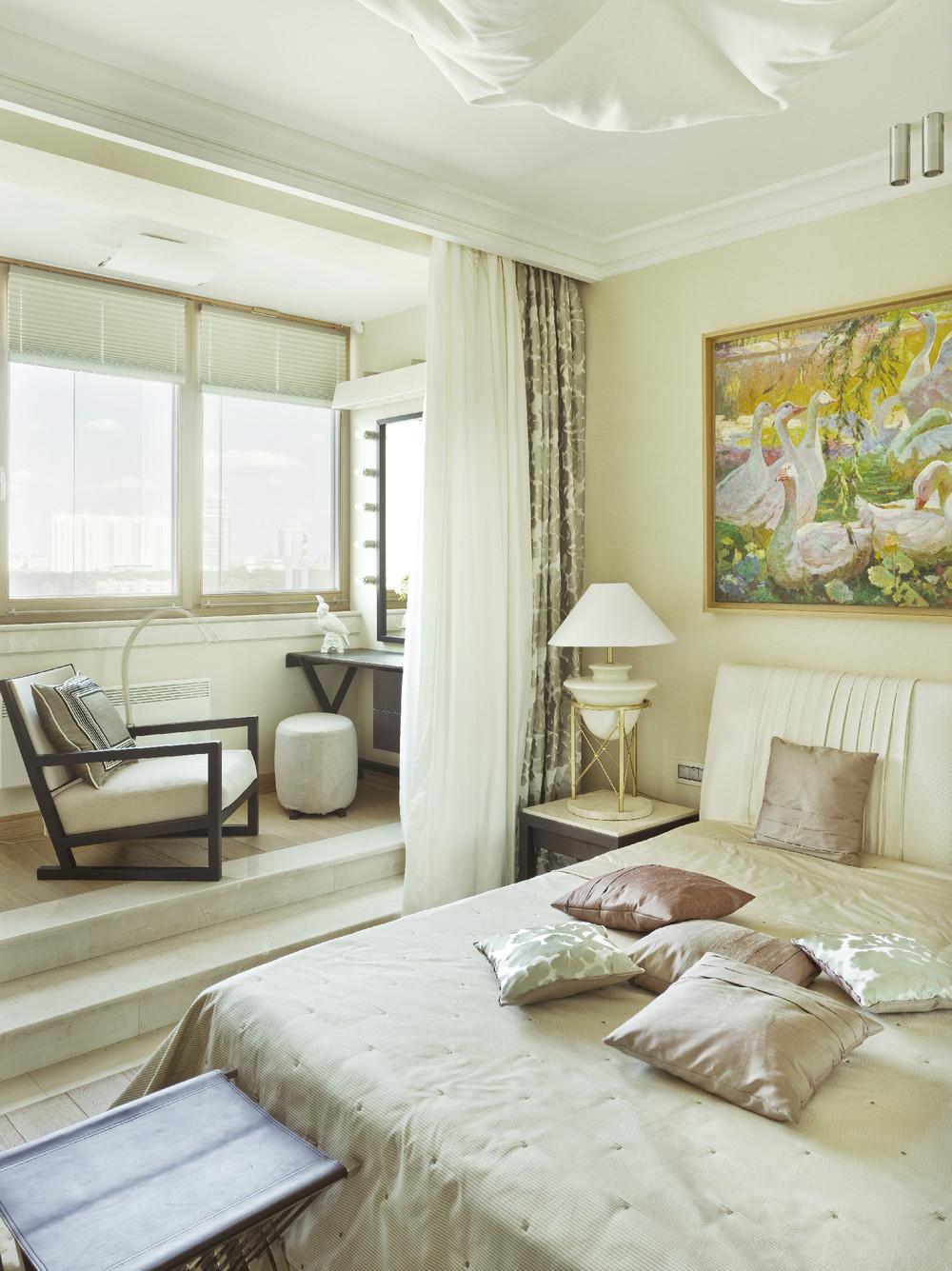 Балкон дизайн фото совмещенный со спальной.