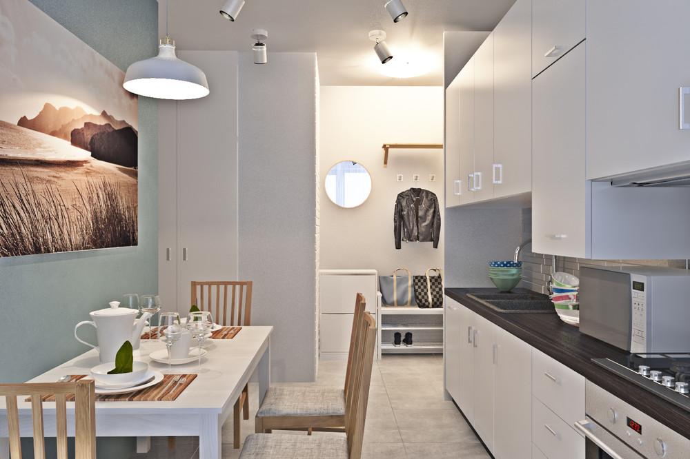Дизайн 1 комнатной квартиры 42 кв м