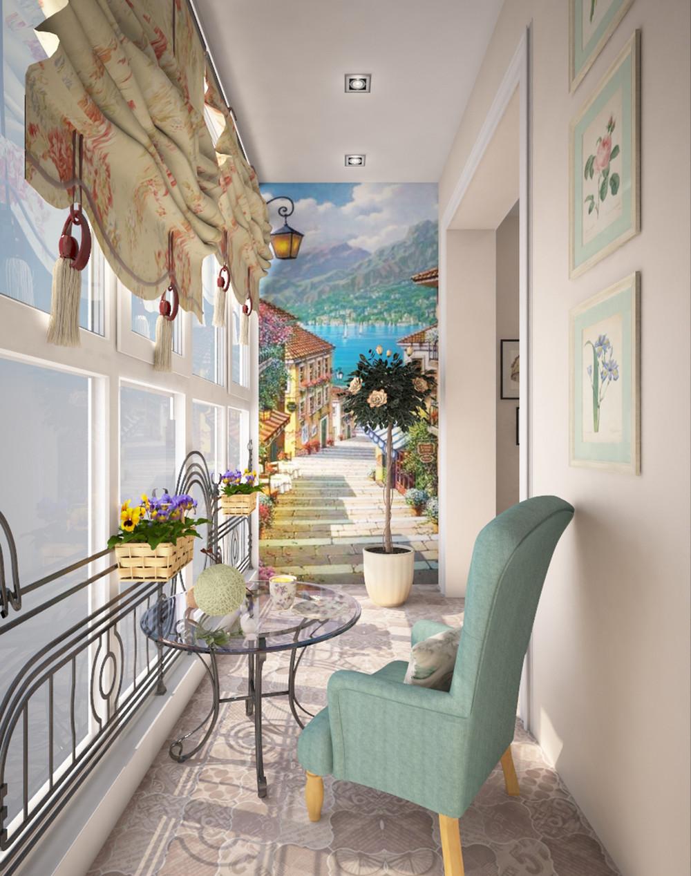 Балкон французского стиля..