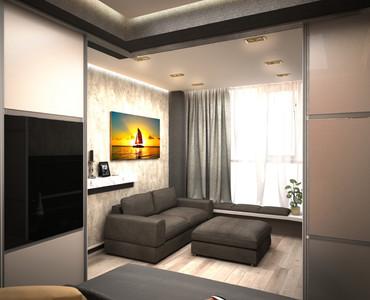 Дизайн квартиры студии 37 кв.м