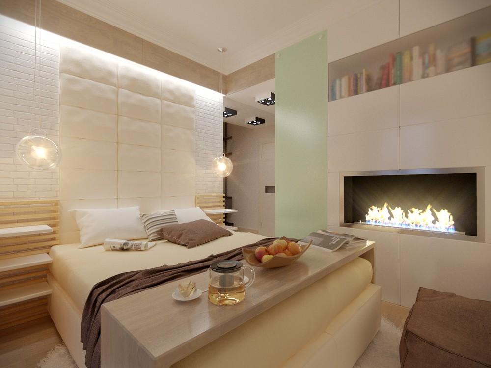 Дизайн спальни 9 кв метров фото